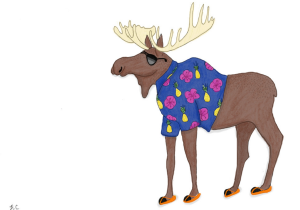 Vacation Moose by Heidi Coburn